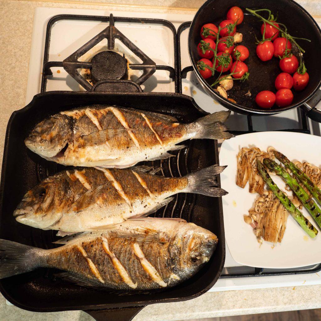 dorada-z-warzywami-przygotowanie