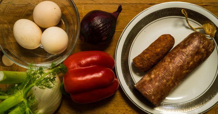 omlet-z-miesem-skladniki